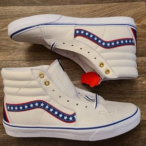 Vans Sk8-Hi Leather White Stars Knievel 11.5